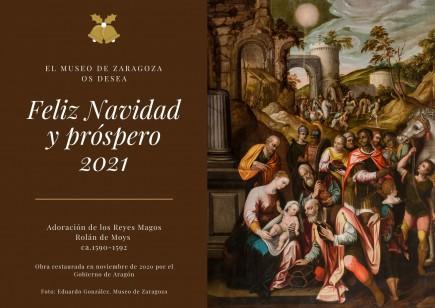 Felicitación navideña 2020. Foto: Eduardo González. Montaje: Difusion Museo de Zaragoza.