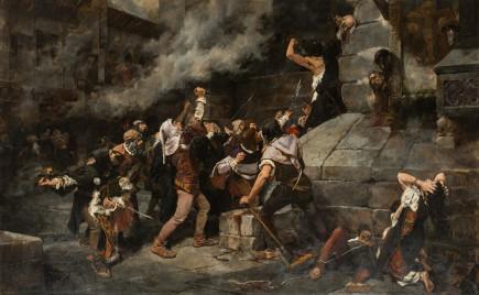 A los pies del Salvador (Episodio de una matanza de judíos en la Edad Media), Vicente Cutanda, 1887. Foto: José Garrido. Museo de Zaragoza.