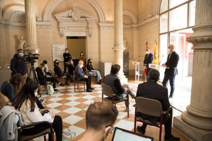 Presentación de la programación de los museos del Gobierno de Aragón para 2021. Foto: José Garrido. Museo de Zaragoza.