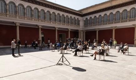 Presentación programa Año Pradilla. Foto: José Garrido. Museo de Zaragoza.