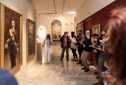 Presentación a los medios de la exposición Pradilla y la pintura. Contexto de una obsesión. Foto: José Garrido. Museo de Zaragoza.