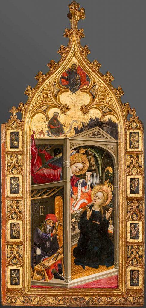 Anunciación. Andrés Marçal de Sas. Temple sobre tabla. Gótico. Hacia 1393-1410.