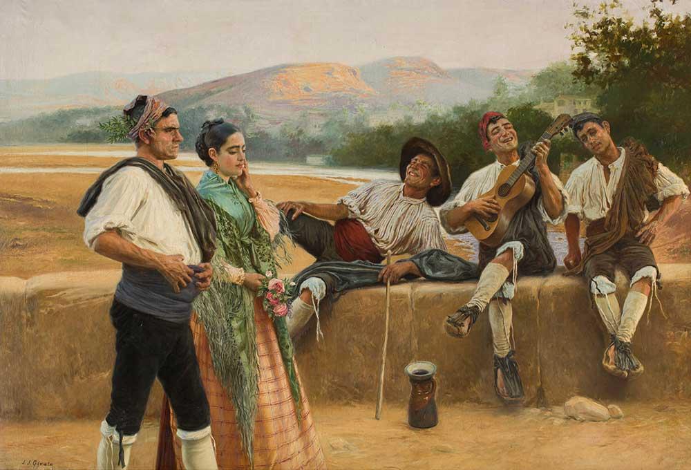Copla alusiva. Juan José Gárate. Óleo sobre lienzo. 1903.