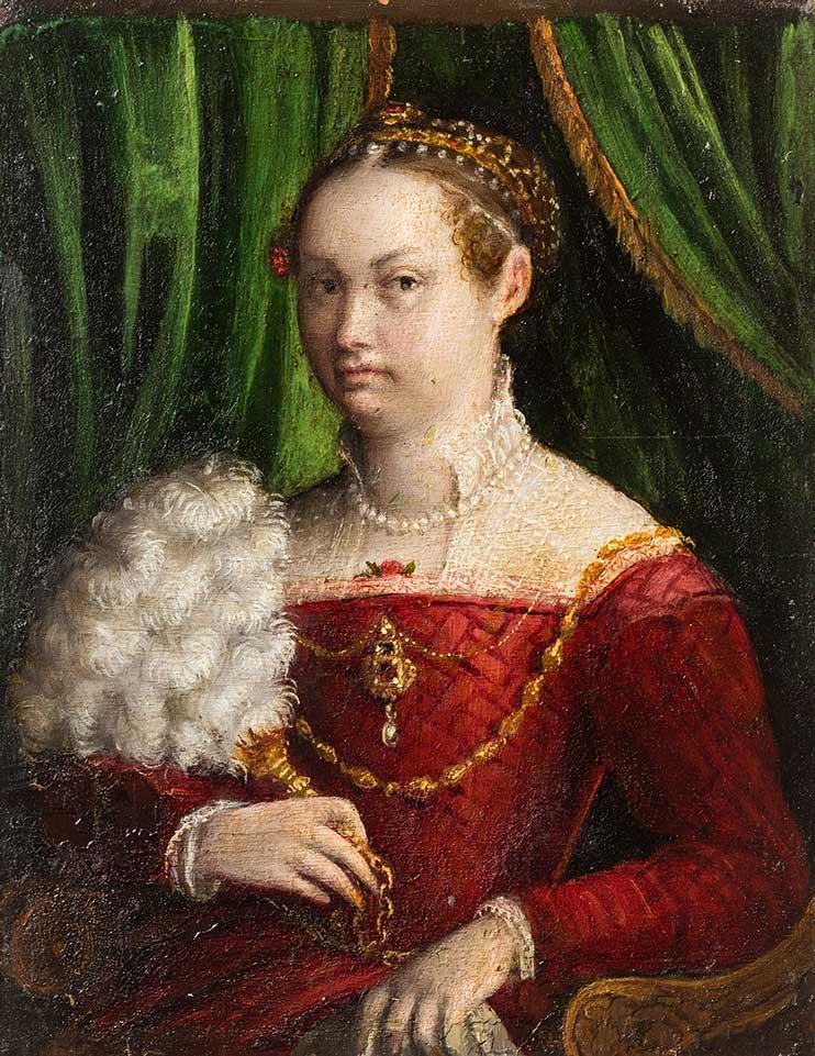 Doble retrato de matrimonio. Lavinia Fontana. Óleo sobre cobre. Renacimiento. 1577-1585.