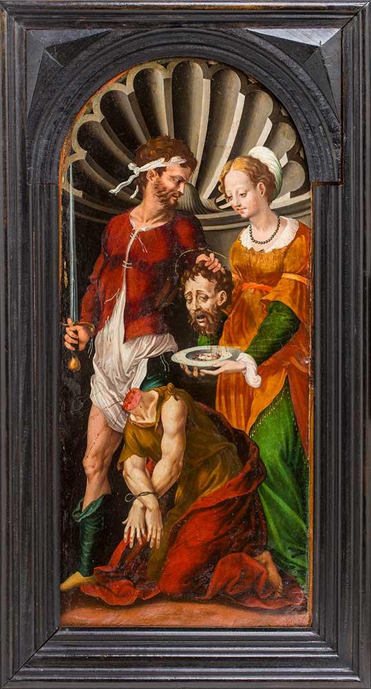 El martirio de san Juan Bautista. Jerónimo Vicente Vallejo Cosida. Óleo sobre tabla. Renacimiento. Siglo XVI.
