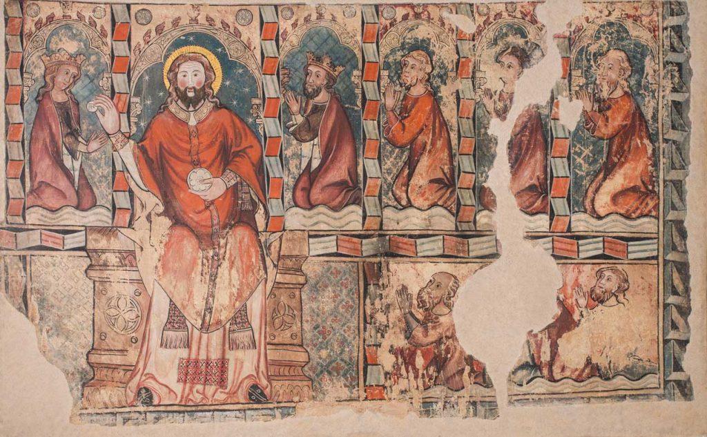 La comunión de los reyes de Aragón. Maestro de Daroca. Temple sobre cal. Gótico. Hacia 1361-1380.