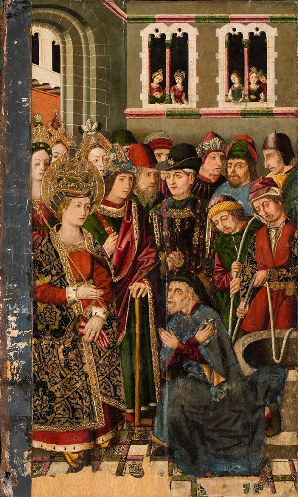 La confesión del judío Judas. Miguel Jiménez. Óleo sobre tabla. Gótico. 1483-1487.