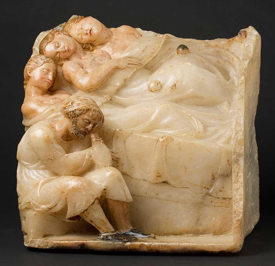 La dote de las tres hermanas. Damián Forment. Alabastro tallado. Renacimiento. 1532.