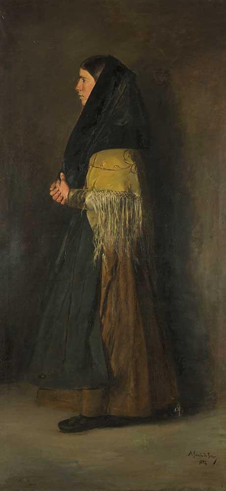 La joven aragonesa. Anselmo Gascón de Gotor. Óleo sobre lienzo. 1894.