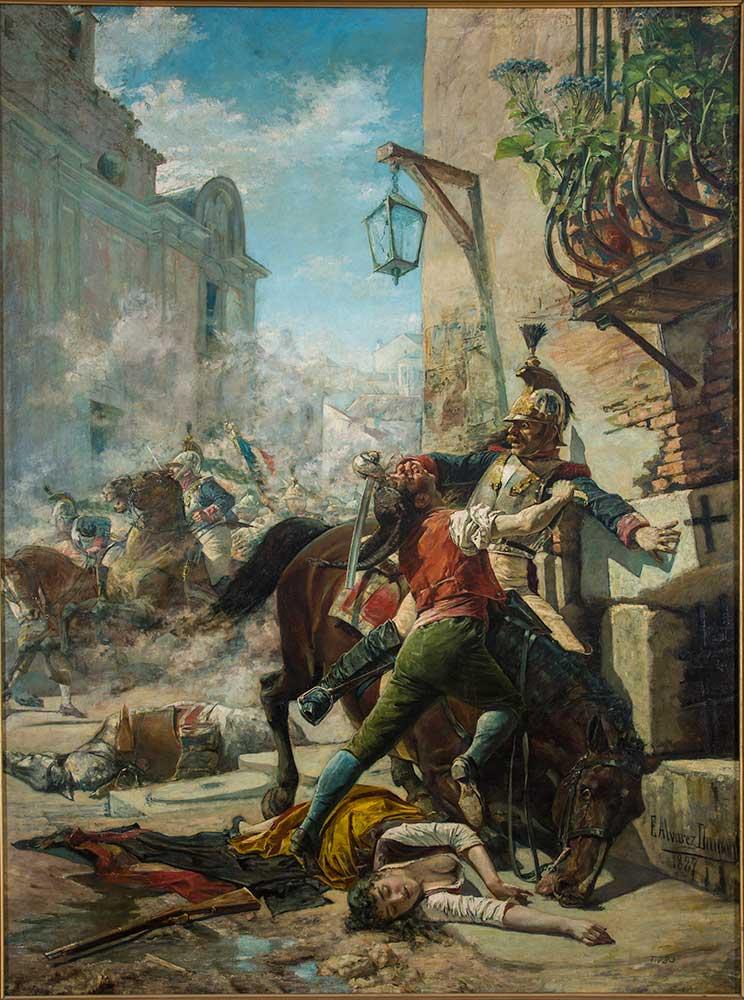 Malasaña y su hija. Eugenio Álvarez Dumont. Óleo sobre lienzo. 1887.