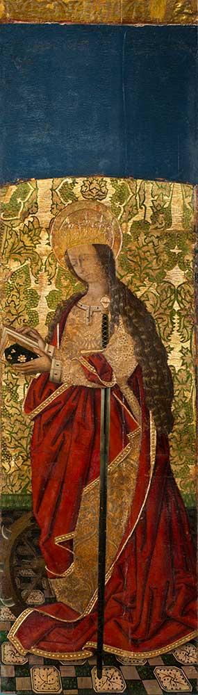 Santa Catalina. Miguel Jiménez. Óleo sobre tabla. Gótico. Hacia 1485-1504.