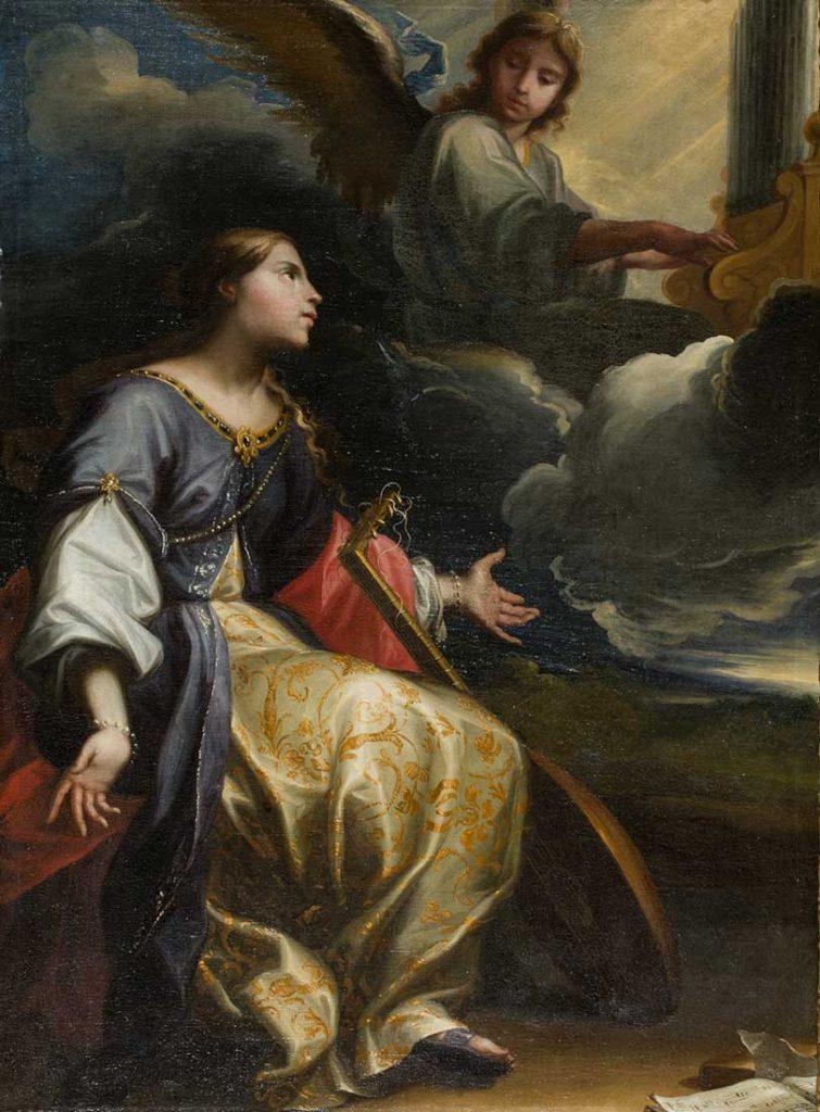 Santa Cecilia. Jusepe Martínez y Lurbe. Óleo sobre lienzo. Barroco. 1635-1640.