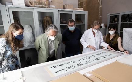 Donación de obras de caligrafía japonesa. Foto: José Garrido. Museo de Zaragoza.