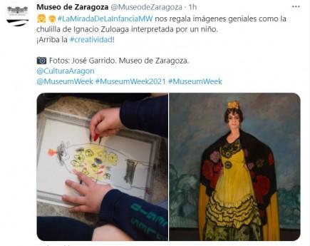 Publicación Museum Week 2021 #LaMiradaDeLaInfancia. Museo de Zaragoza.