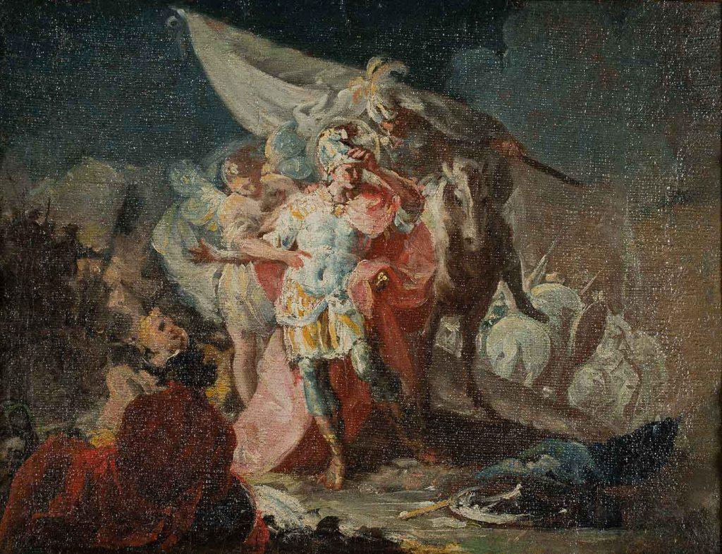 Aníbal vencedor que por primera vez contempla Italia desde los Alpes. Francisco de Goya y Lucientes. Óleo sobre lienzo. 1771.