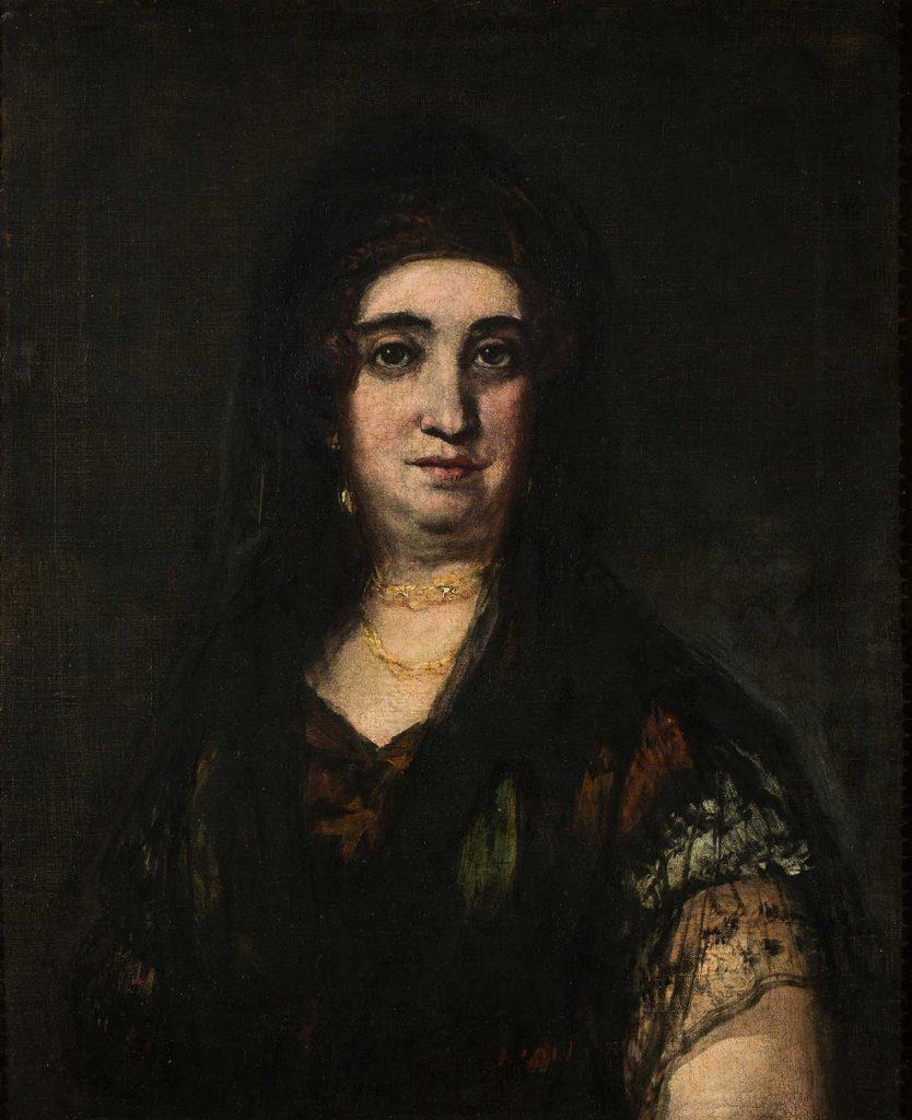 Dama con mantilla. Francisco de Goya y Lucientes. Óleo sobre lienzo. 18824-1825.