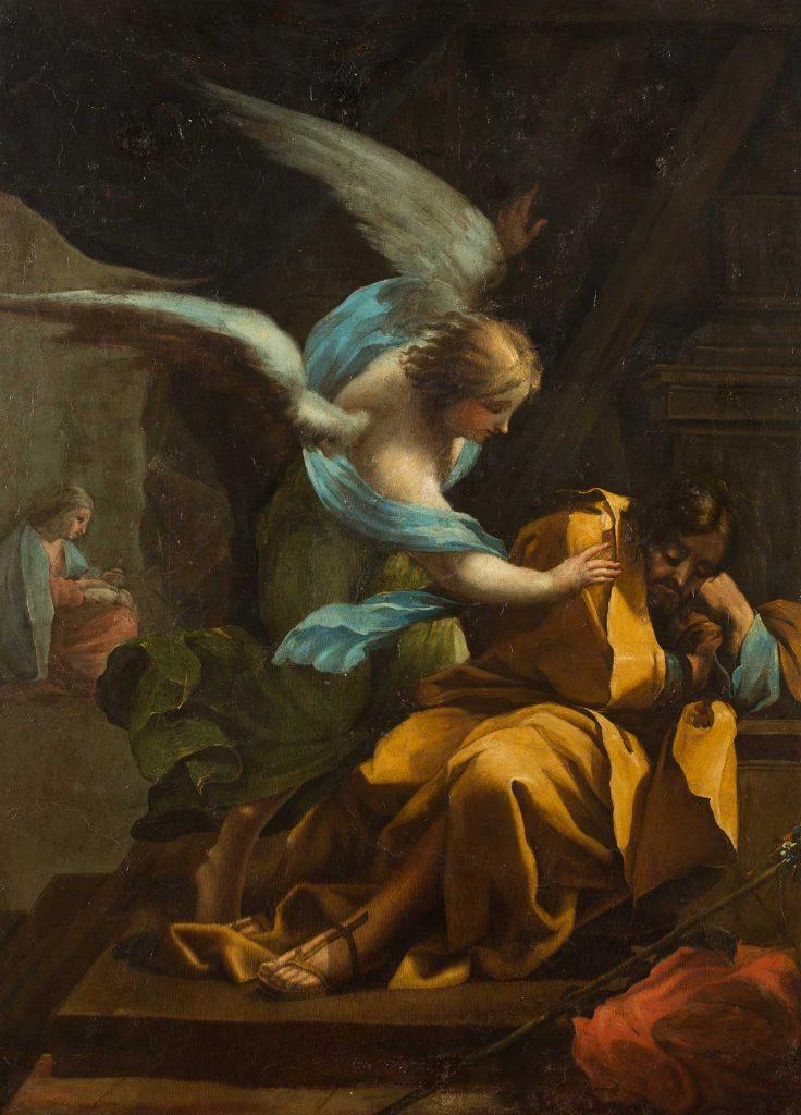 El sueño de san José. Francisco de Goya y Lucientes. Óleo sobre lienzo. Hacia 1772.
