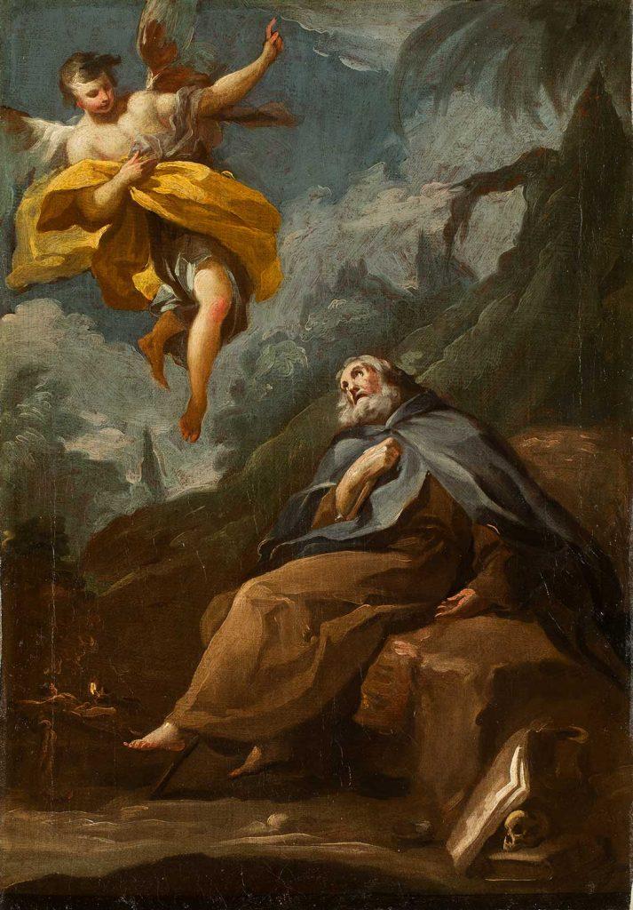 Éxtasis de san Antonio Abad. Francisco de Goya y Lucientes. Óleo sobre lienzo. 1780-1781.