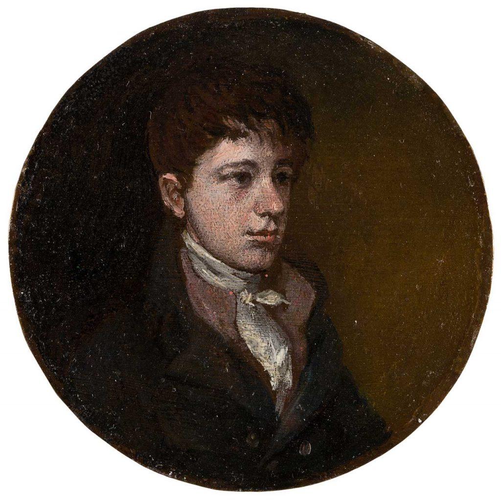 Francisco Javier Goya y Bayeu. Francisco de Goya y Lucientes. Óleo sobre cobre. 1805.