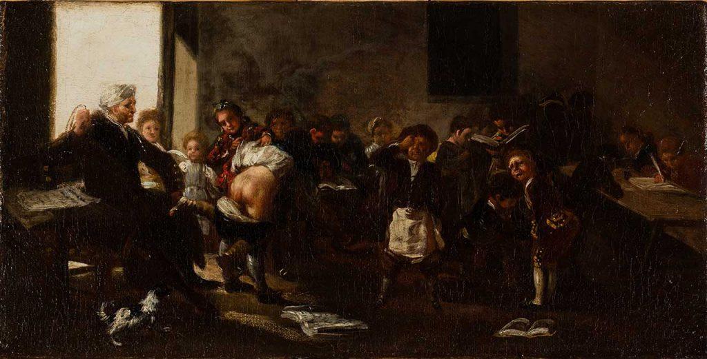 La letra con sangre entra. Francisco de Goya y Lucientes. Óleo sobre lienzo. Hacia 1780-1785.