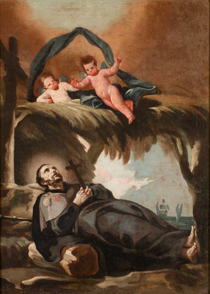 La muerte de san Francisco Javier. Francisco de Goya y Lucientes. Óleo sobre lienzo. 1771-1774.