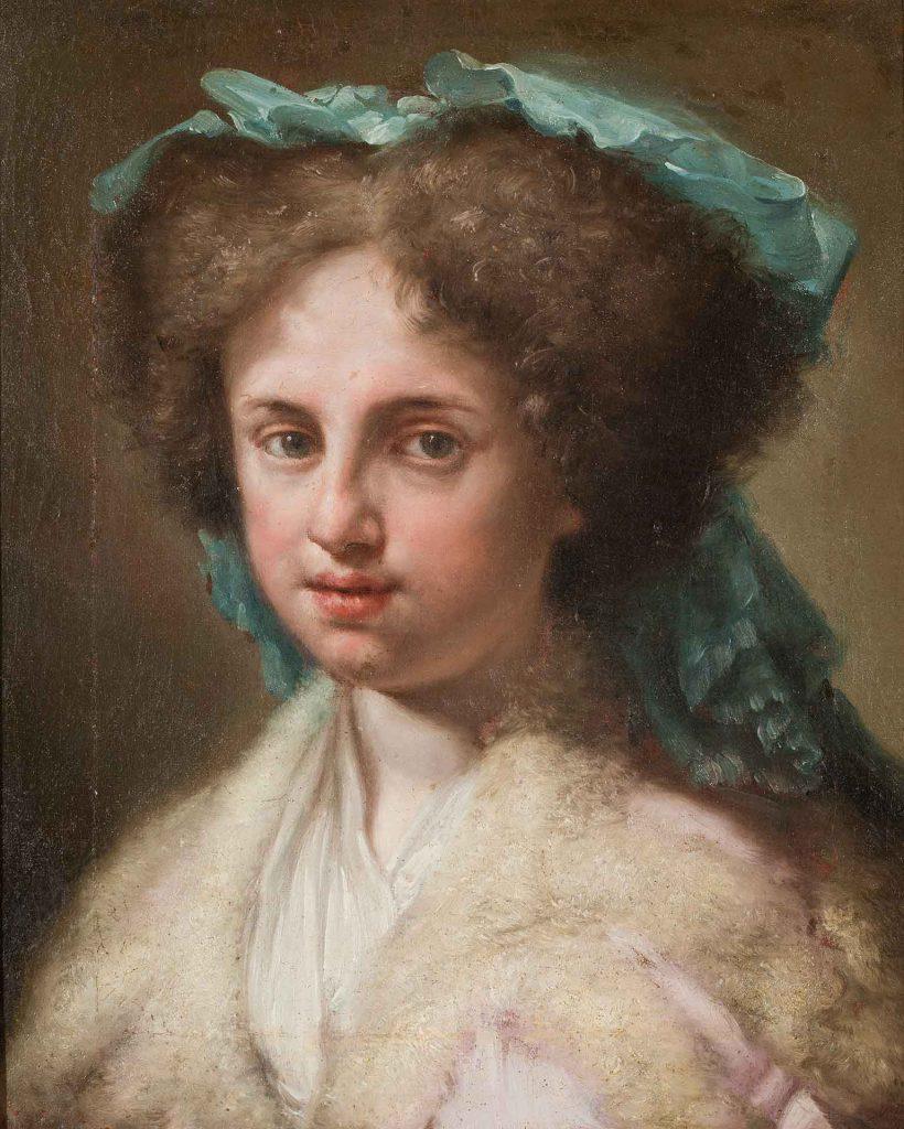 Retrato de Feliciana Bayeu. Francisco Bayeu y Subías. Óleo sobre lienzo. Hacia 1790.