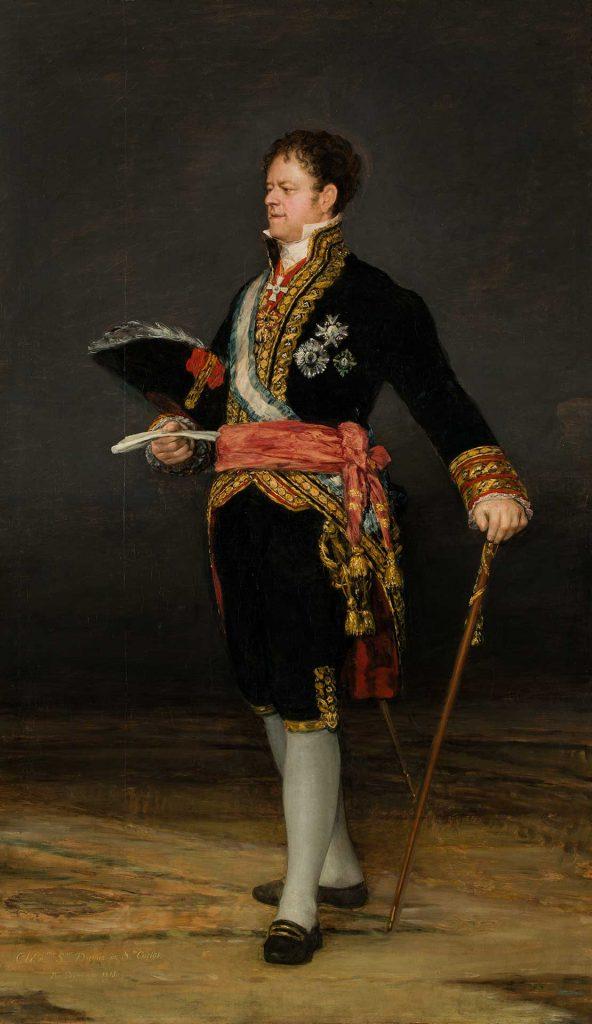 Retrato del duque de San Carlos. Francisco de Goya y Lucientes. Depósito Confederación Hidrográfica del Ebro. Óleo sobre lienzo. 1815.