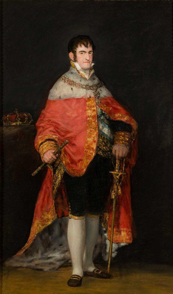 Retrato del rey Fernando VII. Francisco de Goya y Lucientes. Depósito Confederación Hidrográfica del Ebro. Óleo sobre lienzo. 1815.