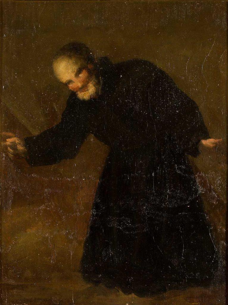San Cayetano. Francisco de Goya y Lucientes. Pintura mural pasada a lienzo. 1772.