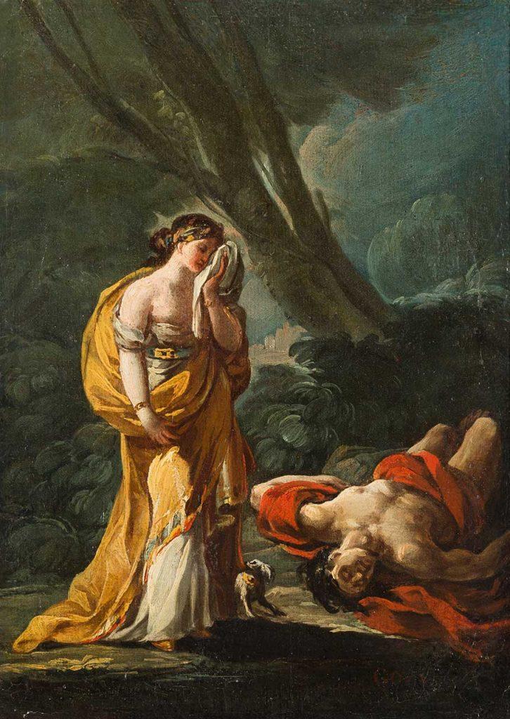 Venus y Adonis. Francisco de Goya y Lucientes. Óleo sobre lienzo. Hacia 1771.