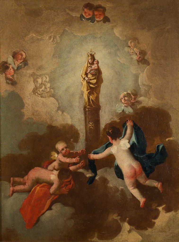 Virgen del Pilar. Francisco de Goya y Lucientes. Óleo sobre lienzo. 1771-1774.