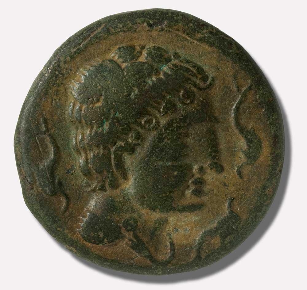 Moneda - As Bronce Cultura Ibérica 133[ac]-44[ac] Ceca de Kelse - Velilla de Ebro 12288