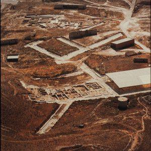 Vista aérea del yacimiento de la Colonia Celsa (Fot. J. Garrido)